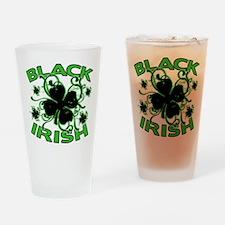 Black Shamrocks Black Irish Drinking Glass