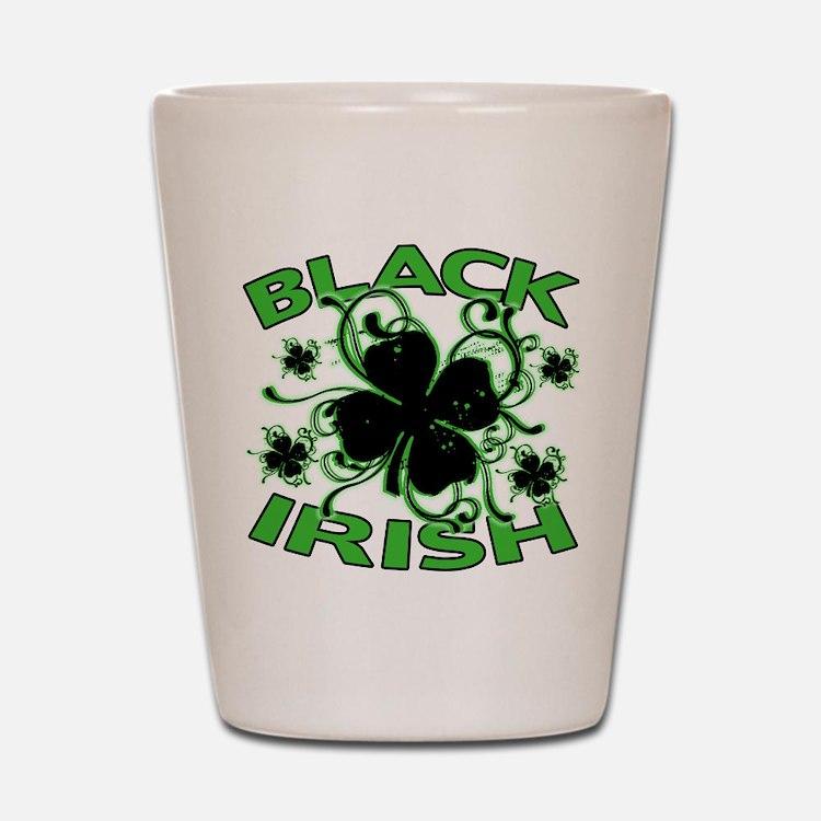 Black Shamrocks Black Irish Shot Glass