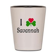 I Love Savannah Shot Glass