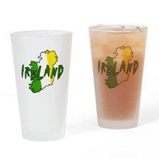 Irish Colors on Irish Map Drinking Glass