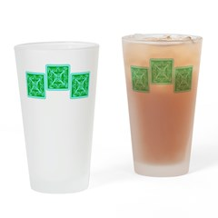 Three Squares Celtic Drinking Glass