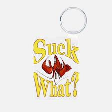 Suck What ? Crawfish Shirt Keychains