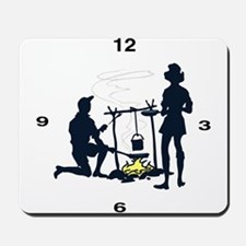 Camping Clock Mousepad