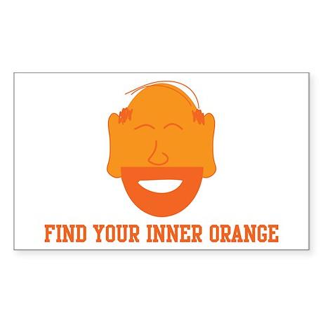 Mr. Tony Inner Orange Rectangle Sticker