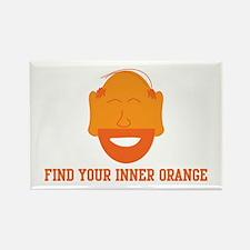 Mr. Tony Inner Orange Rectangle Magnet