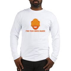 Mr. Tony Inner Orange Long Sleeve T-Shirt