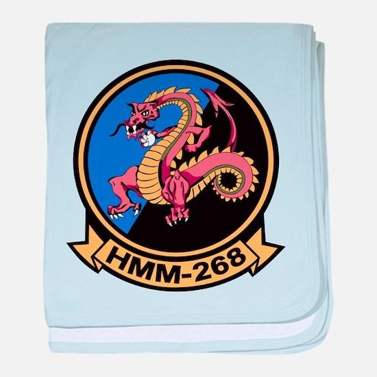 HMM-268 Flying Tigers baby blanket
