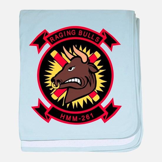 Hmm-261 Raging Bulls baby blanket