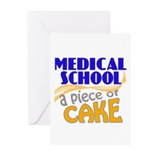 Medical School - Piece of Cake Greeting Cards (Pk