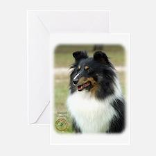 Shetland Sheepdog 9J090D-04 Greeting Cards (Pk of