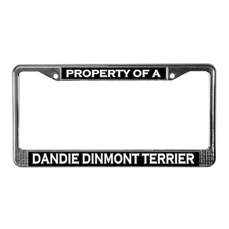 Property of Dandie Dinmont License Plate Frame
