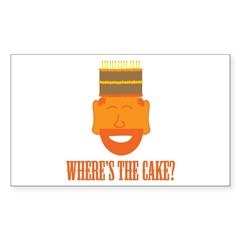 Where's the Cake? Rectangle Decal