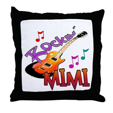ROCKIN MIMI Throw Pillow