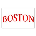 BOSTON Sticker (Rectangle 10 pk)