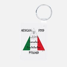 Mexican Food Pyramid Aluminum Photo Keychain