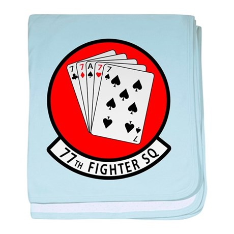 77th Fighter Squadron baby blanket