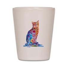 Whimsical Elegant Cat Shot Glass