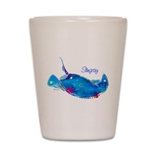 Stingray in Bold Colors Shot Glass