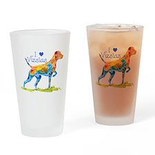 I LOVE HUNGARIAN VIZSLAS GIFT Drinking Glass