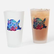 French Bulldog Frenchies Drinking Glass