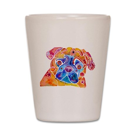 Pugs Mugs on Gift items Shot Glass
