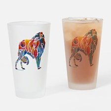 Borzoi on Dark T's Drinking Glass
