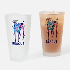 Rescue a Greyhound Drinking Glass