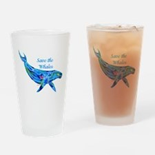Humpback Save the Whales Drinking Glass