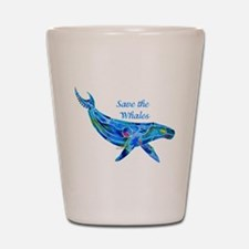 Humpback Save the Whales Shot Glass