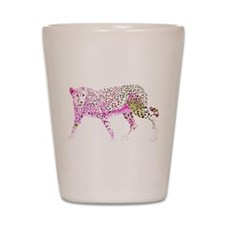 Cheetah Pink Lime Shot Glass