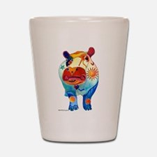 Whimsical Hippo Gifts Shot Glass