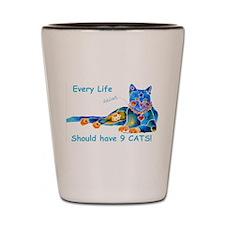 Nine Lives Kitty Shot Glass