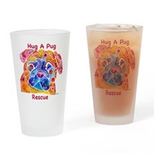 Pug Rescue LOVE Drinking Glass
