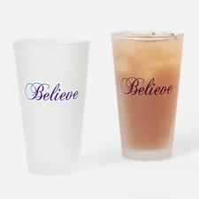 Believe Gifts in Purple & Teal Drinking Glass