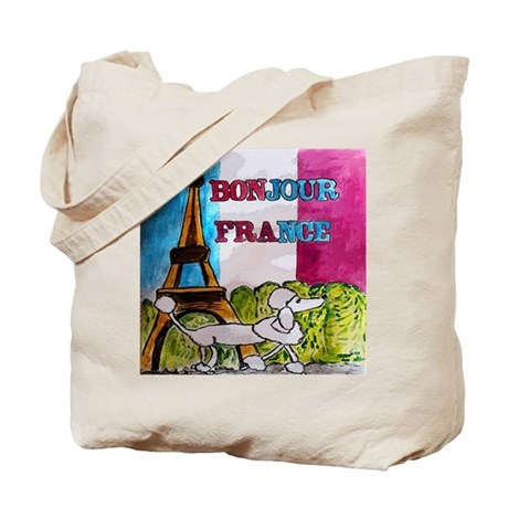 bonjour france tote bag by monicaengeler. Black Bedroom Furniture Sets. Home Design Ideas