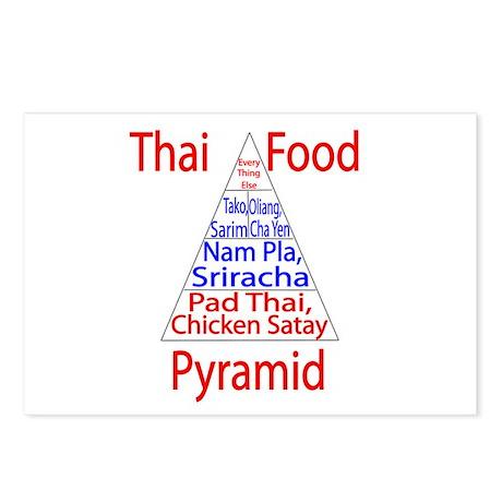 Thai Food Pyramid Postcards (Package of 8)