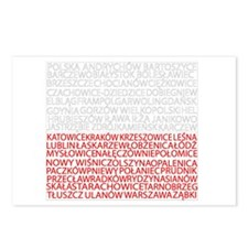 Polish Cities Flag Postcards (Package of 8)