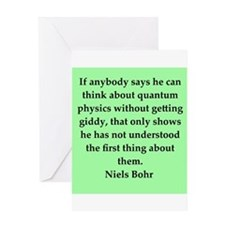 Niels Bohr quotes Greeting Card