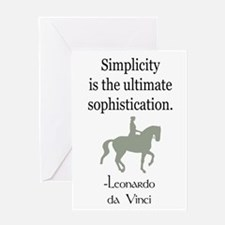 equestrian simplicity quote Greeting Card