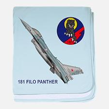 181 FILO F-16 Fighting Falcon baby blanket