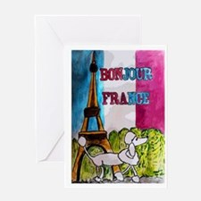Bonjour France Greeting Card