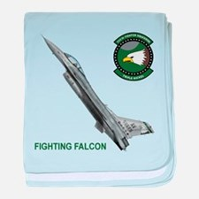 5555th Fighter Squadron baby blanket