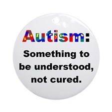 Understand Autistics Ornament (Round)