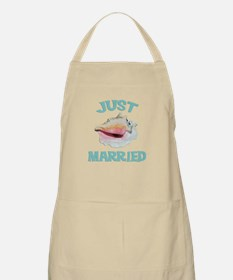 Just Married on the Beach Apron