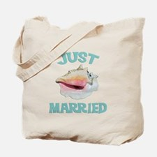 Just Married on the Beach Tote Bag