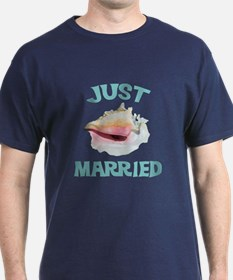 Just Married on the Beach T-Shirt