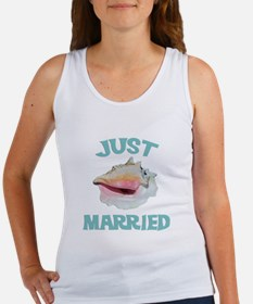 Just Married on the Beach Women's Tank Top