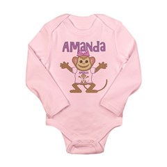 Little Monkey Amanda Long Sleeve Infant Bodysuit