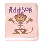 Little Monkey Addison baby blanket