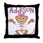 Little Monkey Addison Throw Pillow